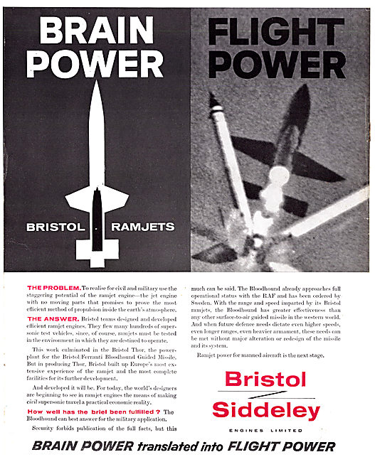 Bristol Siddeley Ramjet Engines
