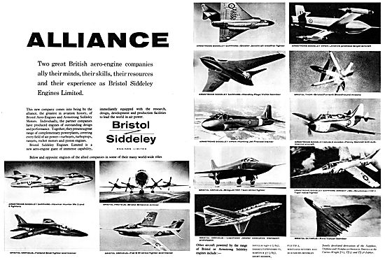 Bristol Siddeley Powered Aircraft 1958