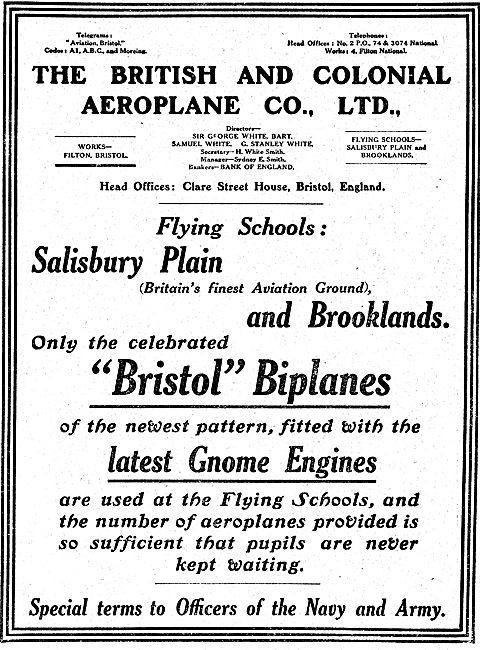 Bristol Flying Schools Are At Salisbury Plain & Brooklands