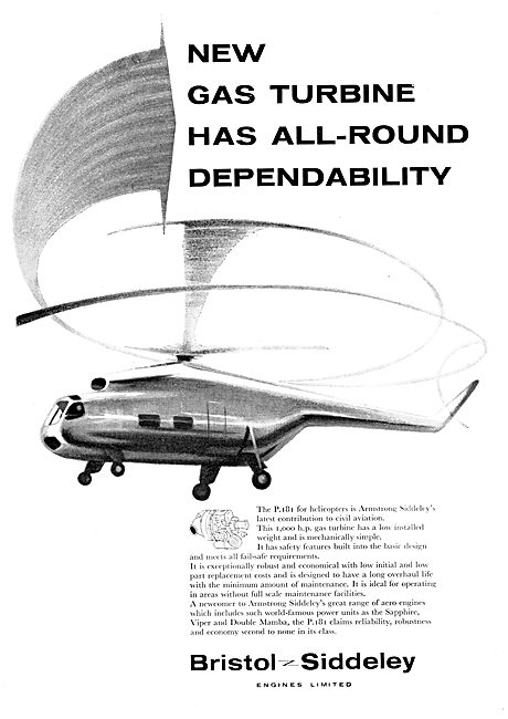 Bristol Siddeley Gas Turbines For Helicopters - P.181