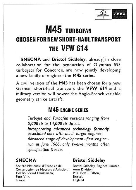 Bristol Siddeley SNECMA M45 Turbofan