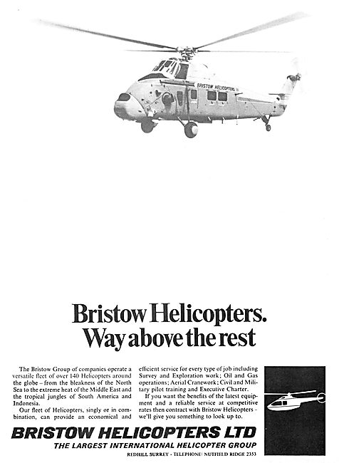 Bristow Helicopters. 1971 Advert