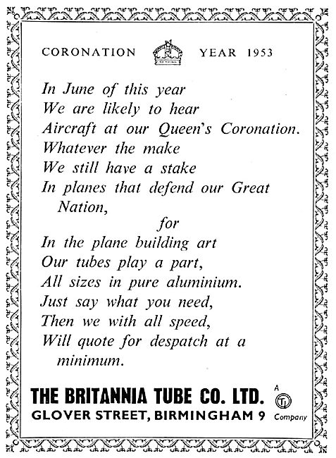 Britannia Tube. Glover Street Birmingham. Tube Manufacturers