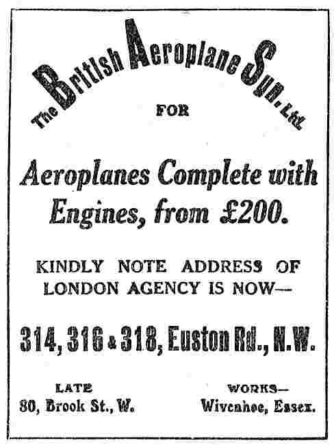 The British Aeroplane Synd  Aeroplanes (Inc Engine) From £200