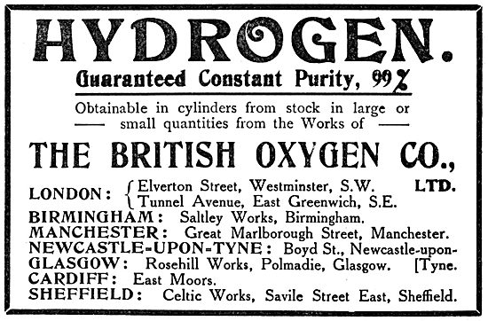 The British Oxygen Company : Hydrogen