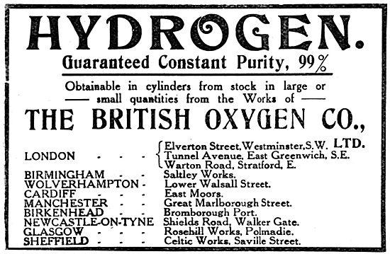 The British Oxygen Co - Hydrogen