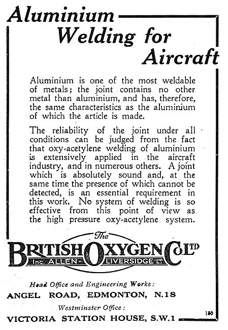 The British Oxygen Co - Aluminium Welding For Aircraft