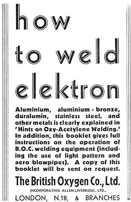 British Oxygen Welding Supplies