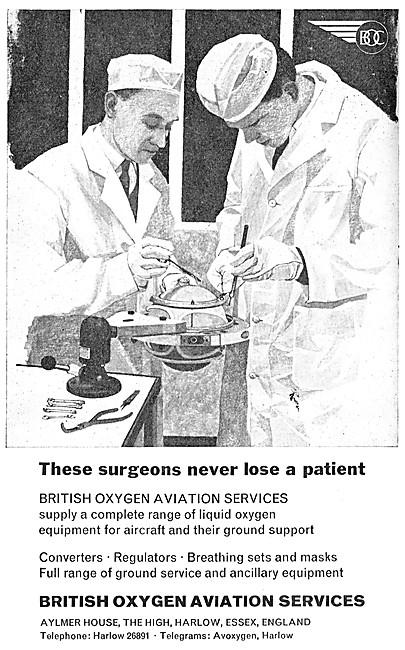 British Oxygen  Aviation Services 1964