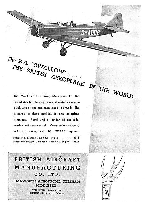 British Aircraft  B.A.Swallow G-ADDB
