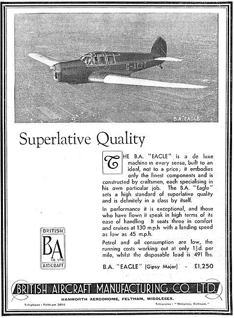 British Aircraft  B.A.Eagle : Gipsy Major