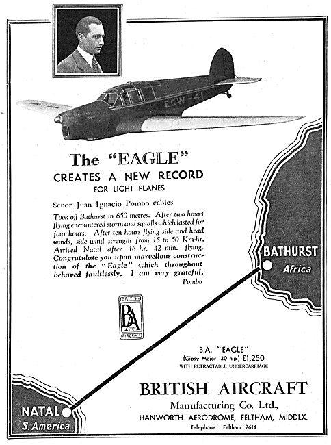 British Aircraft  B.A.Eagle: Senor Juan Ignacio Pombo: ECW-41