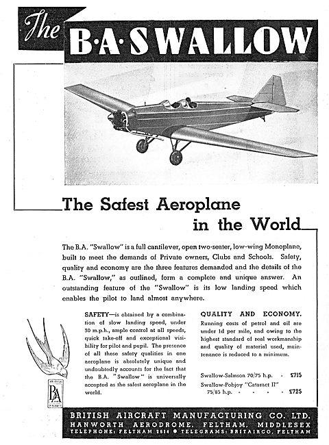 British Aircraft  B.A.Swallow