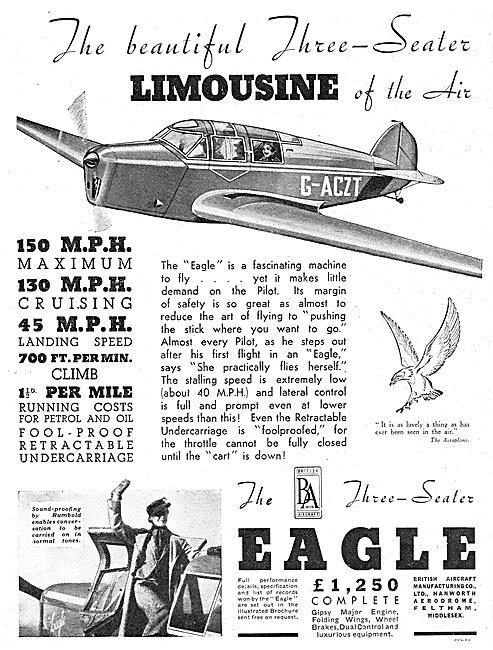 British Aircraft  B.A.Eagle G-ACZT