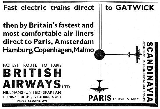 British Airways. Hillmans - United - Spartan