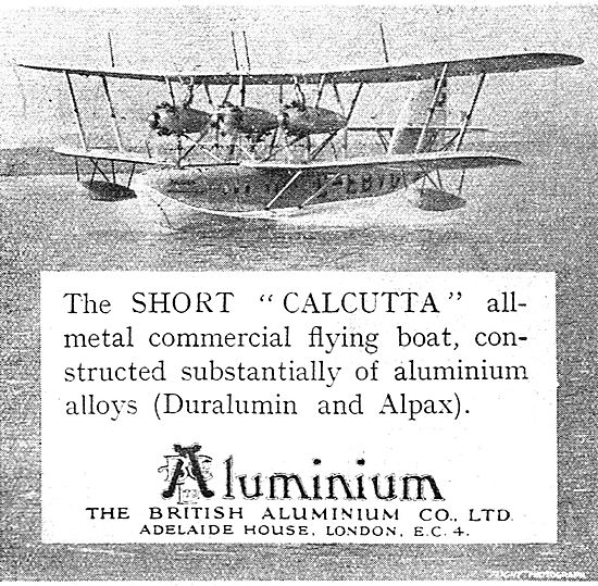 The Short Calcutta Is Constructed  Of Duralumin & Alpax