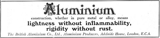 British Aluminium: Lightness Without Inflammability.