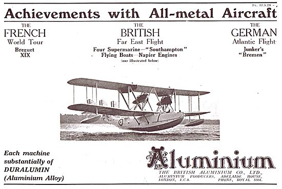 British Aluminium All Metal Aircraft Achievements