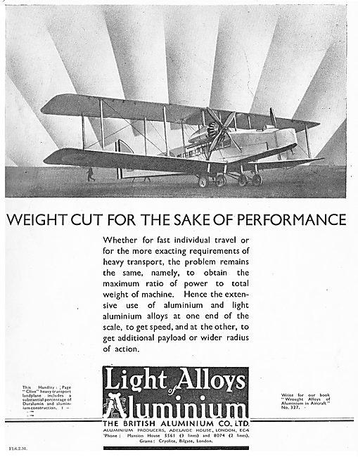 British Aluminium - Weight Saving Metals For Aircraft