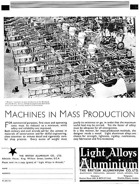 British Aluminium Aircraft Alloys 1931