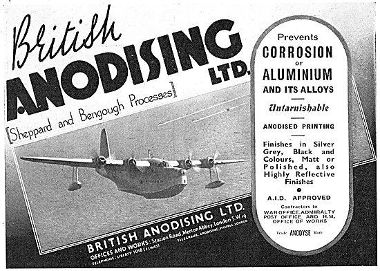British Anodising (Sheppard & Bengough Processes)