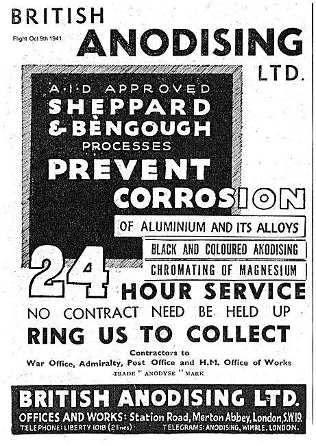 British Anodising. Sheppard & Benough Processes