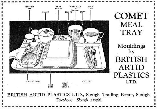 British Artid Plastics - Passenger Meal Trays
