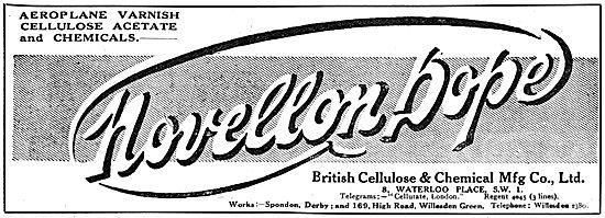British Cellulose & Chemical. Novellon Dope