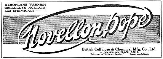 British Cellulose Novellon Dope
