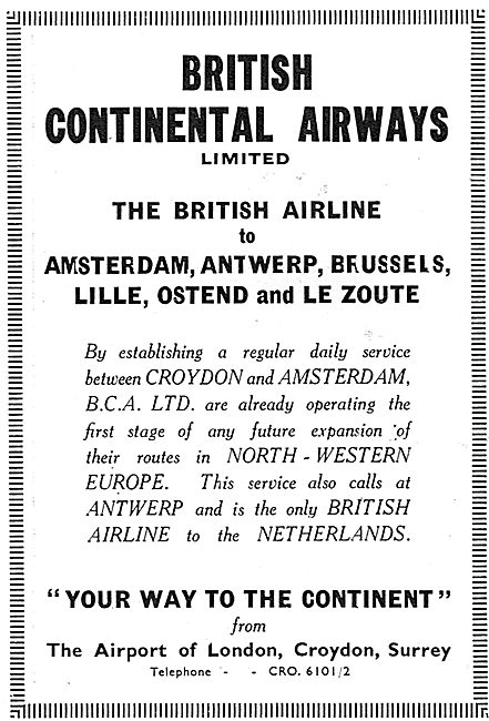 British Continental Airways - Your Way To The Continent