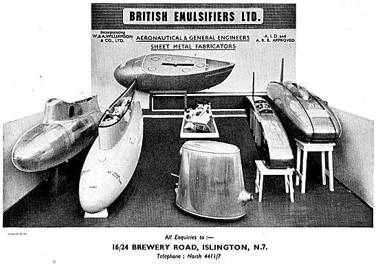 British Emulsifiers Aeronautical Sheet Metal Fabricators
