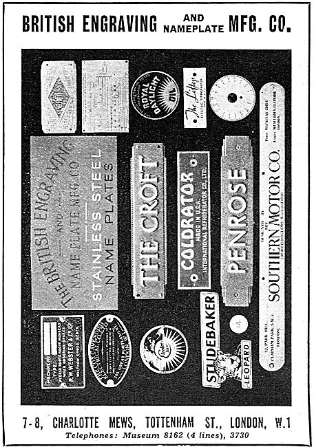 The British Engraving & Nameplate Manufacturing Co
