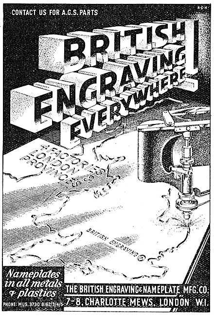 The British Engraving & Nameplate Manufacturing Company 1942
