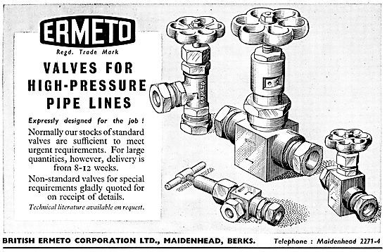 British Ermeto Pipes,Valves,Joints & Self Seal Couplings