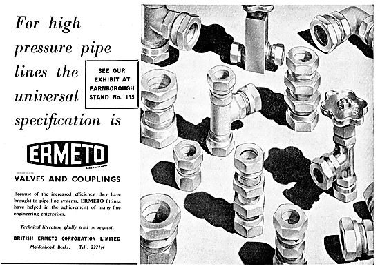 British Ermeto Valves & Couplings For Aircraft