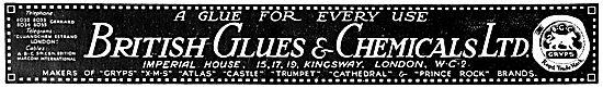 British Glues For Aircraft Constructors 1922