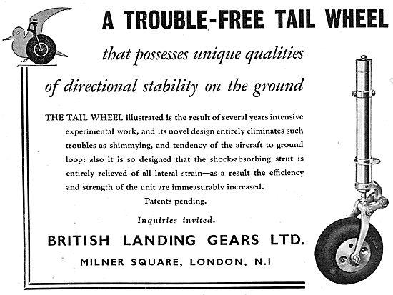 British Landing Gears: Tailwheel Assemblies For Aircraft