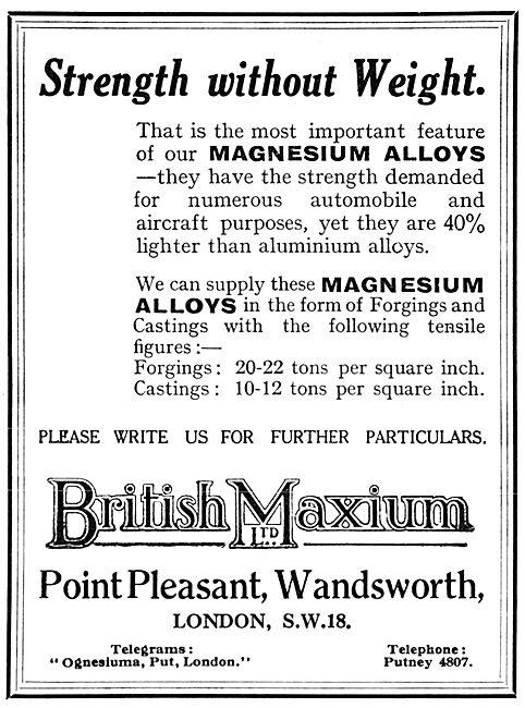 British Maxium - Forgings In Magnesium Alloys