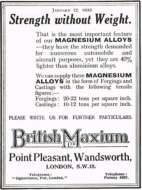 British Maxium Magnesium Alloys