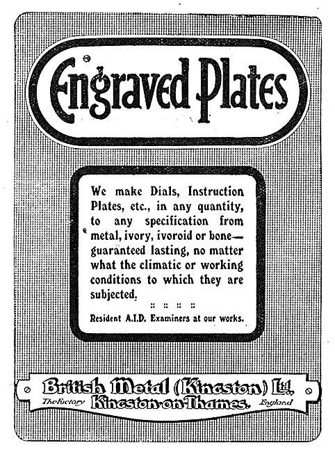British Metal (Kingston) -  Engraved Plates