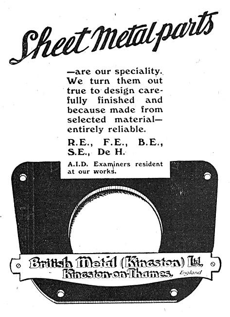 British Metal (Kingston) - Aircraft Sheet Metal Parts