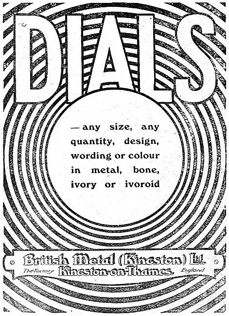 British Metal (Kingston) - Aircraft Dials
