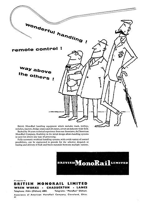 British MonoRail Overhead Handling Equipment