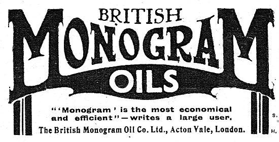 British Monogram Aeroplne Oils