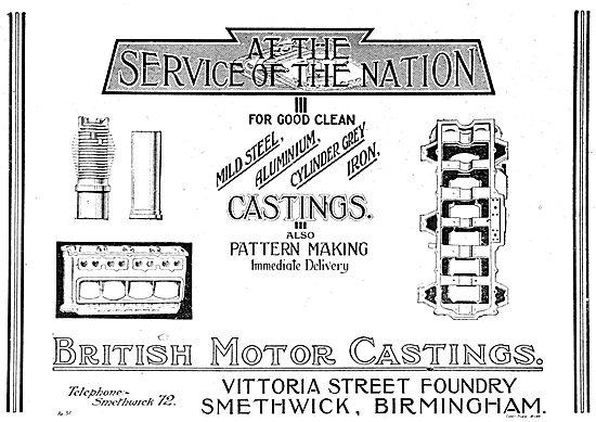 British Motor Castings - Vittoria St Foundry. Smethwick, Birm
