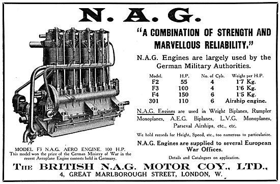British N.A.G. Aero Engines - . F3 N.A.G. Aero Engine 100 H.P.