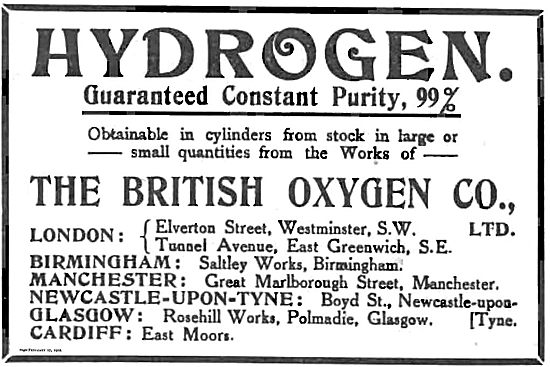 British Oxygen Co For Pure Hydrogen