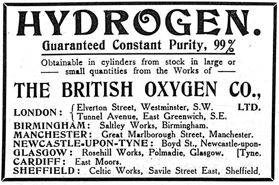 British Oxygen Company - Hydrogen