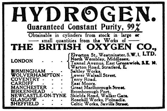 British Oxygen Company - BOC Hydrogen 1919