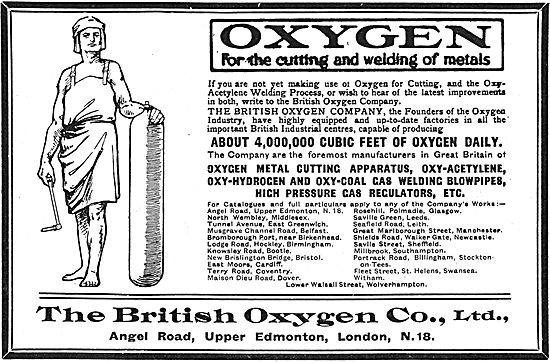 British Oxygen Co - Oxygen For The Cutting And Welding Of Metals